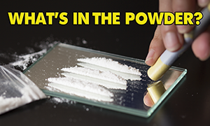 What's in the powder? Poster.