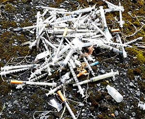 image of drug related litter